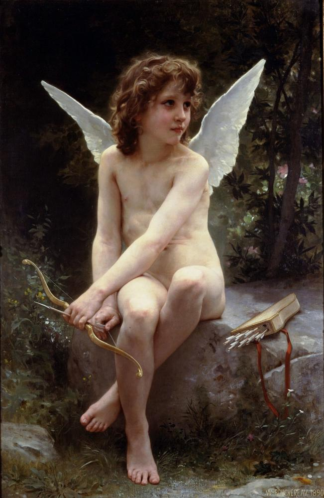 William Bouguereau - Eros on the Lookout _1890_